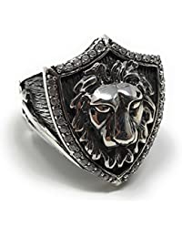 Newly Designed Truly Handcrafted 925k Pure Sterling Silver 17gr Carved LION HEAD Skull/Biker Ring -USA SE5