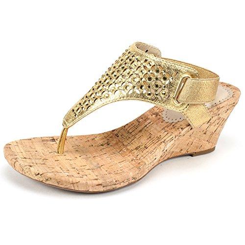 Arnette Women's Sandal, Gold/Metallic Fabric, 6 M ()