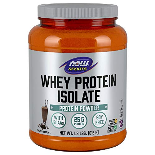 - NOW Sports Whey Protein Isolate, Creamy Chocolate, 1.8-Pound