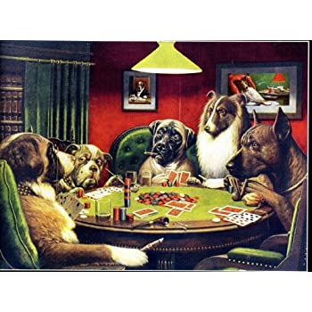Amazon.com: Poker Dogs by C.M. Coolidge - 550 Piece Puzzle