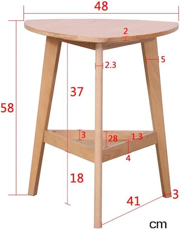 Bulk Ontwerpen Salontafels For Outdoor Salontafels For Living Room 2 Verdiepingen Kleine Ronde Koffie Eigentijdse Koffietafel 4.11 (Color : Wood color) Wood color K0oduAO