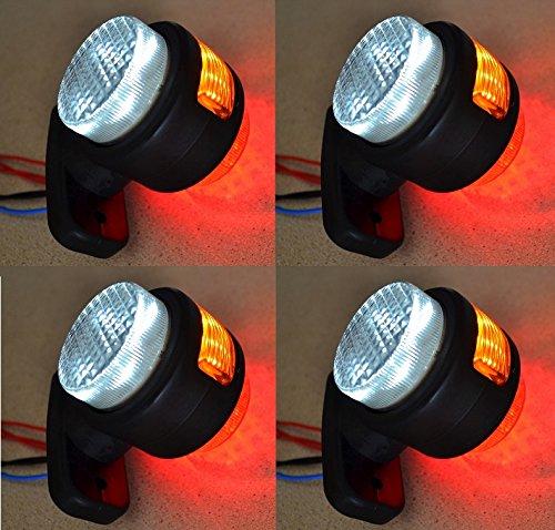 4 x luci di posizione laterali Outline arancione rosso bianco 12 V 11 LED camion Chassis rimorchio Van Bus camper VN4ES