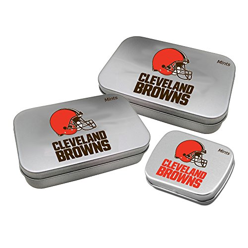 - Worthy Promotional NFL Cleveland Browns Decorative Mint Tin 3-Pack with Sugar-Free Mini Peppermint Candies