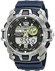 Armitron Sport Mens 20/5157NVY Analog-Digital Chronograph Navy Blue Resin Strap Watch