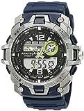 Armitron Sport Men's 20/5157NVY Analog-Digital Chronograph Navy Blue/Silver Resin Strap Watch