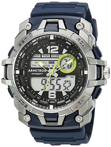 Diving Digital Analog (Armitron Sport Men's 20/5157NVY Analog-Digital Chronograph Navy Blue Resin Strap Watch)