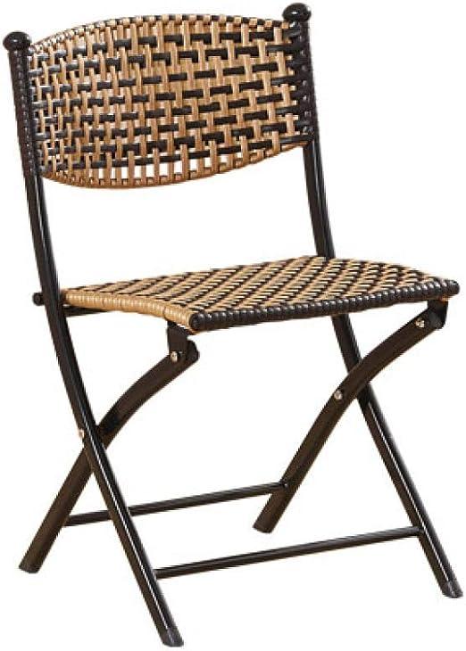 QWERTLH Sillas Plegables Muebles De Ratán Jardín Ideal para Balcón O Terraza,Multi-Colored-S: Amazon.es: Hogar