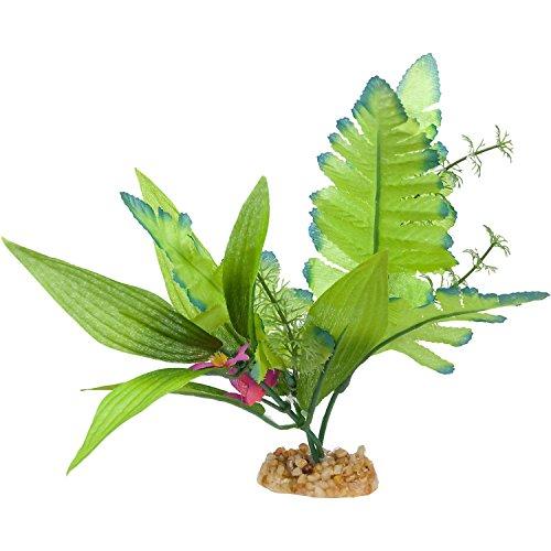 Imagitarium Leafy Green Silk Aquarium Plant, (Medium Aquarium Plant)