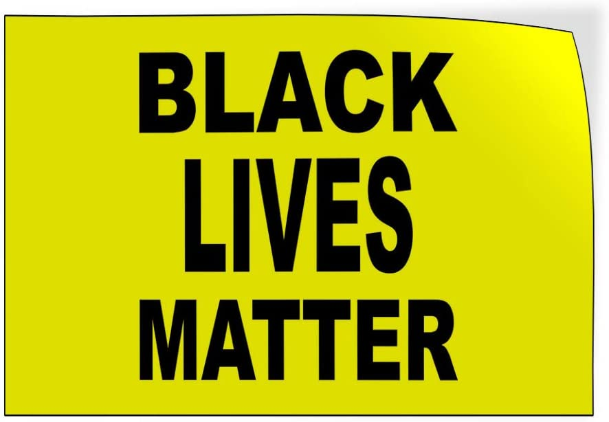 One Sticker 69inx46in Decal Sticker Multiple Sizes Black Lives Matter Yellow Lifestyle Team Outdoor Store Sign Yellow