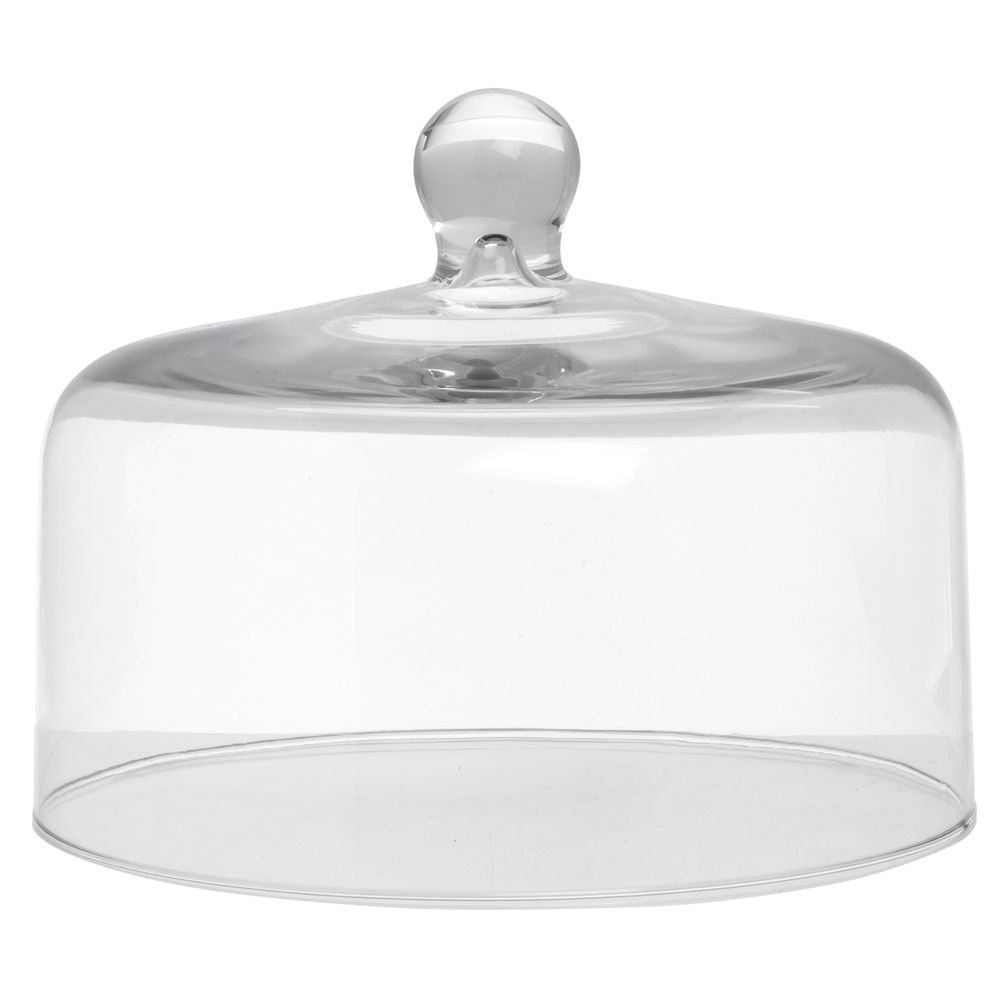 "Mosser Glass Clear Dome Cake Cover - 10"" Dia x 8"" H"