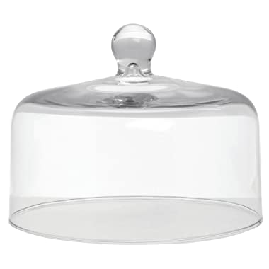 Mosser Glass Clear Dome Cake Cover - 10  Dia x 8  H