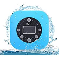 Hott Shower Waterproof Portable Bluetooth Speaker with Suction Cup (Blue)