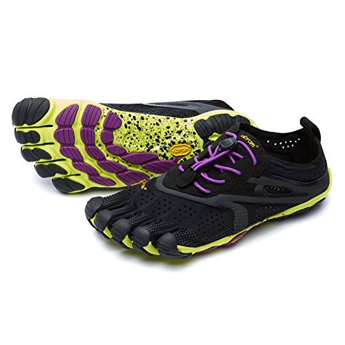- Vibram Men's V Running Shoe, Black/Yellow, 43 EU/9.5-10 M US
