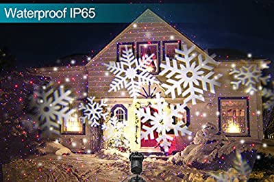 ElementDigital Laser Projector Lights Landscape Christmas Lights Moving Snowflake LED Outdoor Landscape Laser Projector Lamp Garden Xmas Light UL Listed 16 Patterns