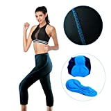 #1: Twotwowin Women 3D Padded 3/4 Cycling Tights Breathable Short Lightweight Leggings Biking Pants