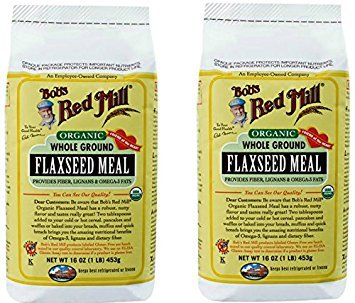 Bob's Red Mill Organic Flaxseed Meal 16 Ounces (2 Pack)