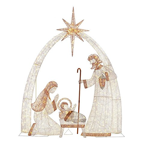 Outdoor Lighted Nativity Scene Decoration in US - 3