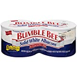 BUMBLE BEE Solid White Albacore Tuna Fish in Vegetable Oil, Canned Tuna Fish, High Protein Food, 5 Ounce (24 Cans)