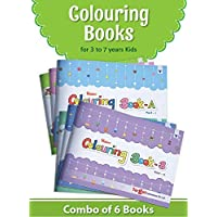 Blossom Colouring Books for 3 to 7 Year Old Kids   Crayon and Pencil Coloring for Nursery, Preschool and Primary Children   Set of 6 Books