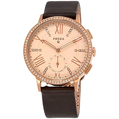 Fossil Hybrid Smartwatch - Q Gazer Gray Leather from Fossil Watches