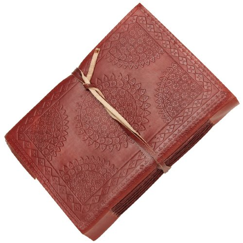 UPC 602589279046, Medieval Circular Embossed Leather Bound Journal Diary Brown