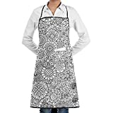 KATONGHUJHJH Commercial Restaurant Kitchen Apron Ormanental Flowers Customized Snapapron For Serving Cooking
