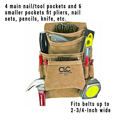 7de3644d7292 CLC Custom Leathercraft I923X Suede Carpenter s Nail and Tool Bag