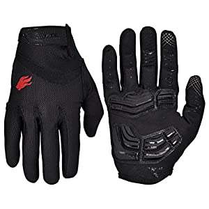 FIRELION Cycling Gloves Bike Bicycle Gloves – Breathable Gel Pad Shock-Absorbing Anti-Slip – MTB DH Road Touch…