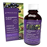 Provezza European Black Elderberry Syrup, Extracted in Italy, Sambucus Herbal Supplement, Immune Support for Kids and Adults, Original Immunity Formula with Zinc (4.0 Ounces)