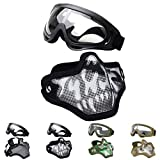 Best Airsoft Goggles - OUTGEEK Airsoft Half Face Mask Steel Mesh Review