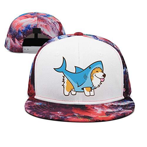 - Unisex Casual Baseball Cap Corgi Dog in a Shark Suit Fitted AdjustableTrucker Hat