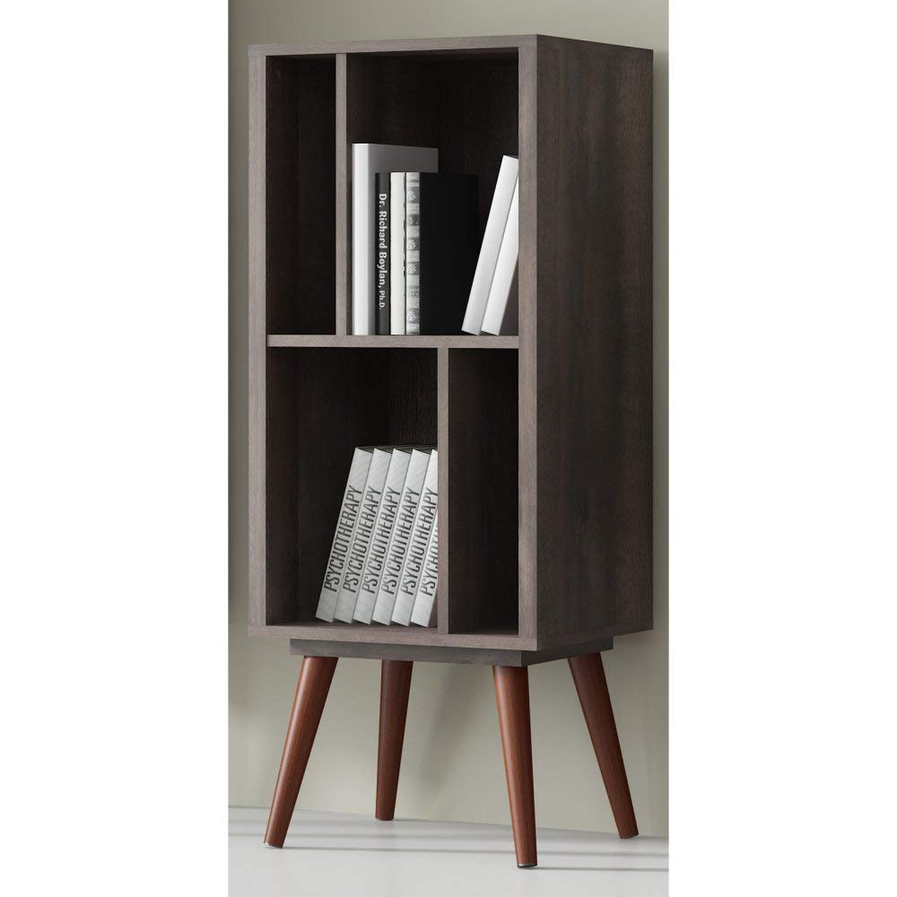 Ideaz International 23602WT Medium Cubby Bookcase, Terrarum Walnut