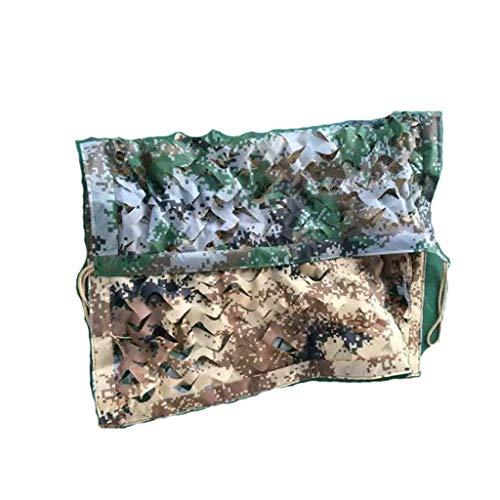 (JXYY Flame-Retardant Double-Sided Camouflage net, one Jungle Digital Camouflage, one Desert Digital Camouflage (Size : 45m))