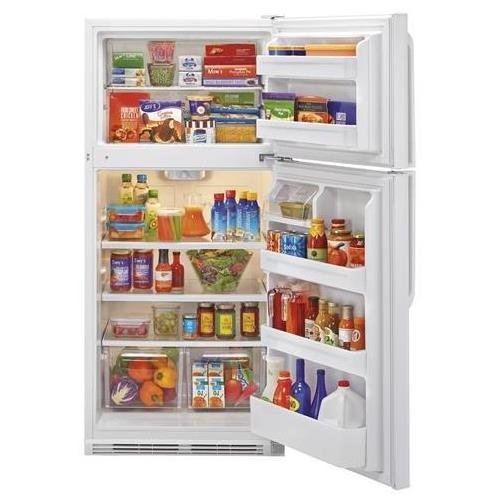 Haier HRT18RCPW 30'' Wire Shelves Top Mount Refrigerator with 18.1 cu. ft. Capacity Dual Knob Mechanical Control Clear Fresh Food Crisper in by Haier