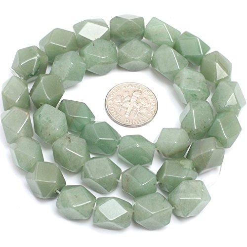 Green Aventurine Jade Beads for Jewelry Making Gemstone Semi Precious 9x11mm Faceted 15