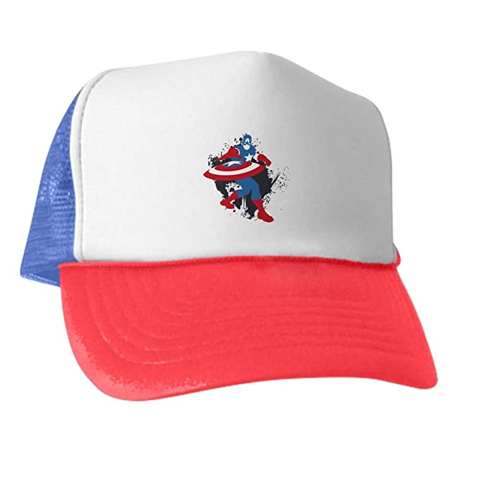 4be092d54ef Image Unavailable. Image not available for. Color  CafePress Captain America  Minimalist Trucker Hat