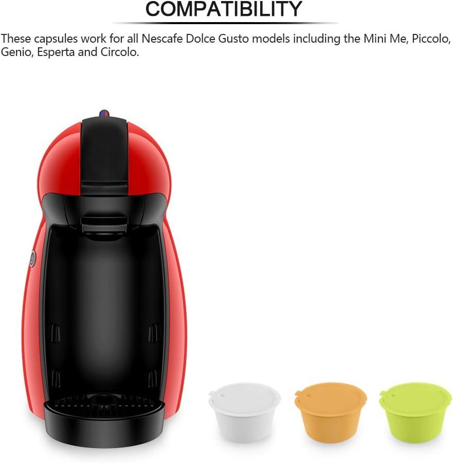 Coffee Capsule Filter, SUNJULY Cápsulas de café reutilizables sin ...
