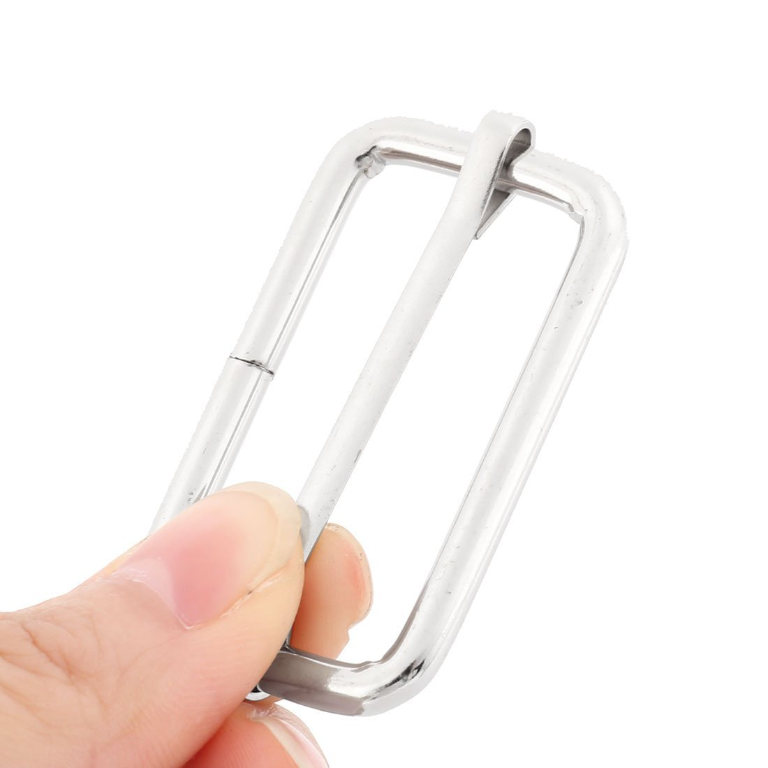 EbuyChX Bag Metal Bagahe Parihaba Belt Adjustive Tri Glide Buckle 10 Pcs Silver Tone
