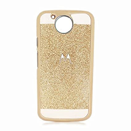 finest selection 50d3f 3b19f MAJANSY Gold Back Cover for Moto G5 - Golden Glitters Sparkle Luxury Back  Case