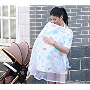 Fashion Nursing Breastfeeding Cover- Baby Car Seat Canopy - Nursing Pads, Pouch Shopping Cart, Stroller, Carseat Covers for Girls and Boys - Best Multi-Use Infinity (Animals)