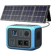 PowerOak Bluetti Portable Power Station AC50S 500Wh 300W Solargenerator Sinuswellen-Wireless-Lade...