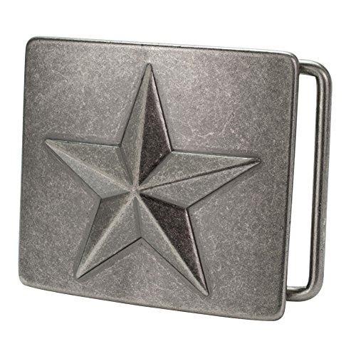 Buckle Rage Mens Nautical Star Celtic Ocean Square Antique Silver Belt Buckle