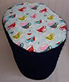Quilted Birds & Teacups Food Processor Cover (Navy Blue, Large) Review