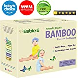 Best Bamboo Diapers | Eco-Friendly Hypoallergenic | Silky Soft w/Wetness Indicator Wicks Away Moisture to Keep Your Baby Dry & Happy | Premium High Quality | Size 4-5 | 22-33lb for Sensitive Skin 24ct