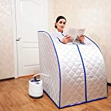Portable Steam Sauna Home Steam Sauna Bath spa with 2L Steam Generator Weight Loss Relaxes tire