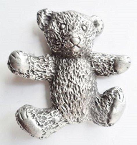 Teddy Bear Pewter Brooch (Pewter Teddy Bears)