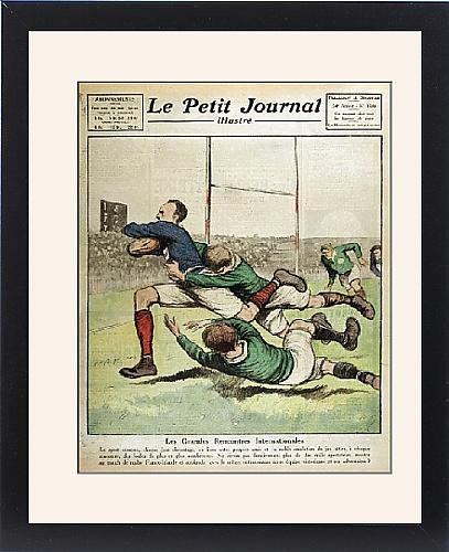 Framed Print Of France/ireland Rugby 23
