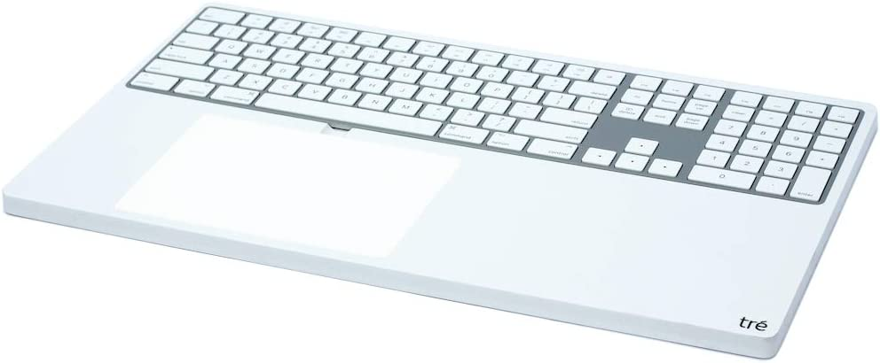 The Big tré (White) | Tray Dock Stand for Apple Bluetooth Magic Keyboard Numeric Keypad and Magic Trackpad 2