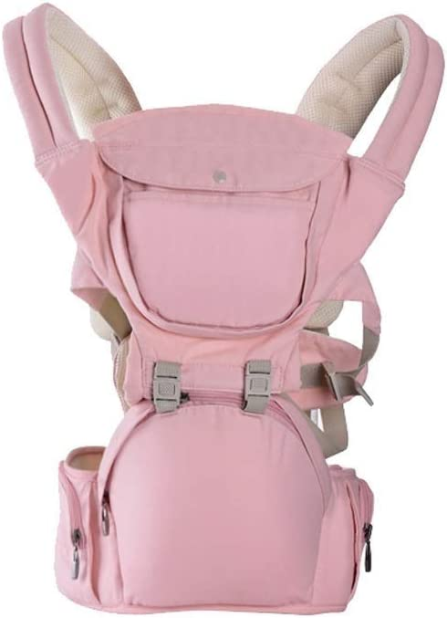 TSWEET Baby Carrier for Newborn, Newborn to Toddler Baby Carrier Backpack and Front Baby Sling Carrier,Baby Waist Stool Front Hug Strap Carrier Slings (Color : Pink)