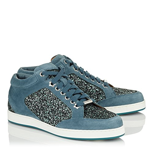 Star Miami Leather Sneakers and Jimmy Glitter Dusk Choo Blue fqF141